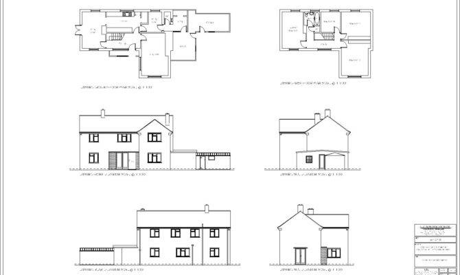 Oak House Existing Plans Elevations