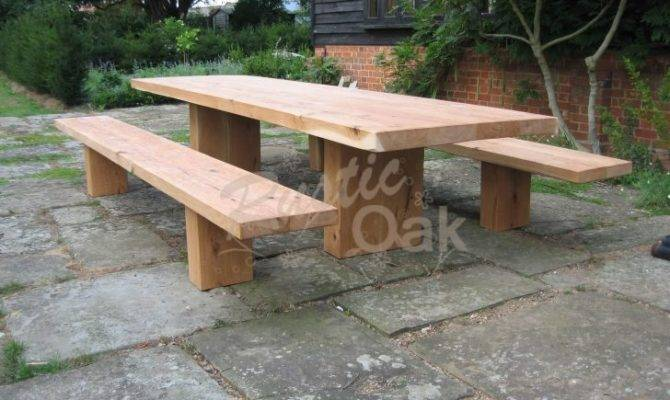 Oak Table Bench Unforgettable Farmhouse Handcrafted