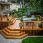 Octagonal Deck Traditional Wood Steps