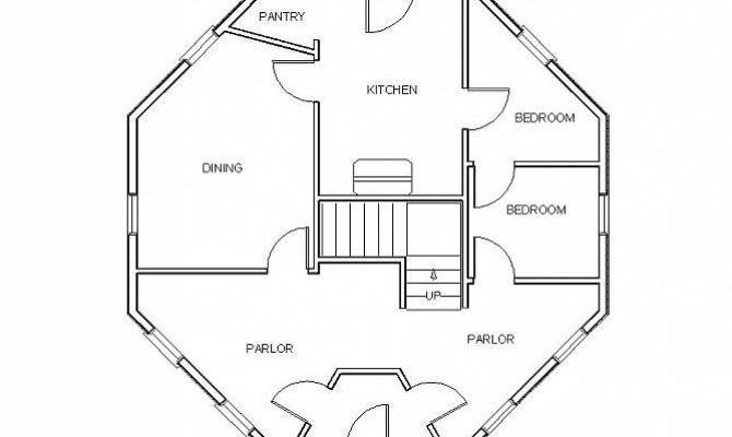 Octagonal House Floor Plan Gunnison