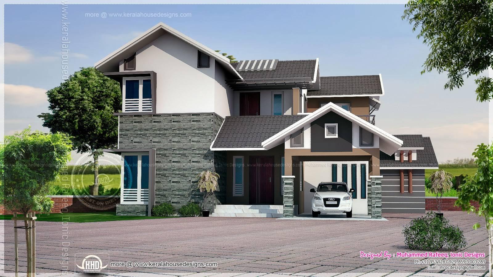 October Kerala Home Design Floor Plans House Plans 127776