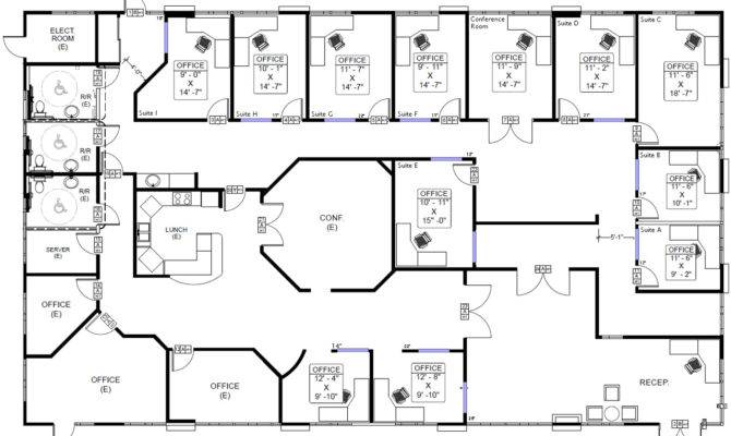 Office Building Floor Plan Plans