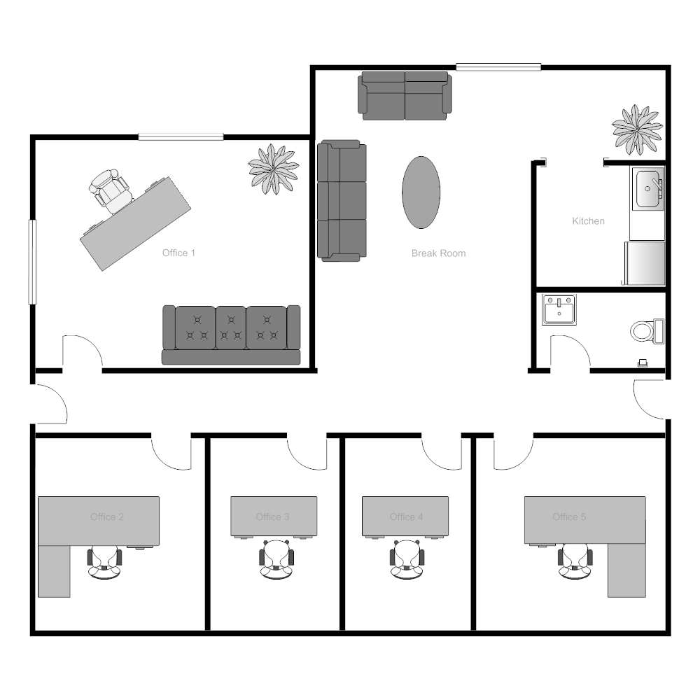 Office Building Floor Plan - House