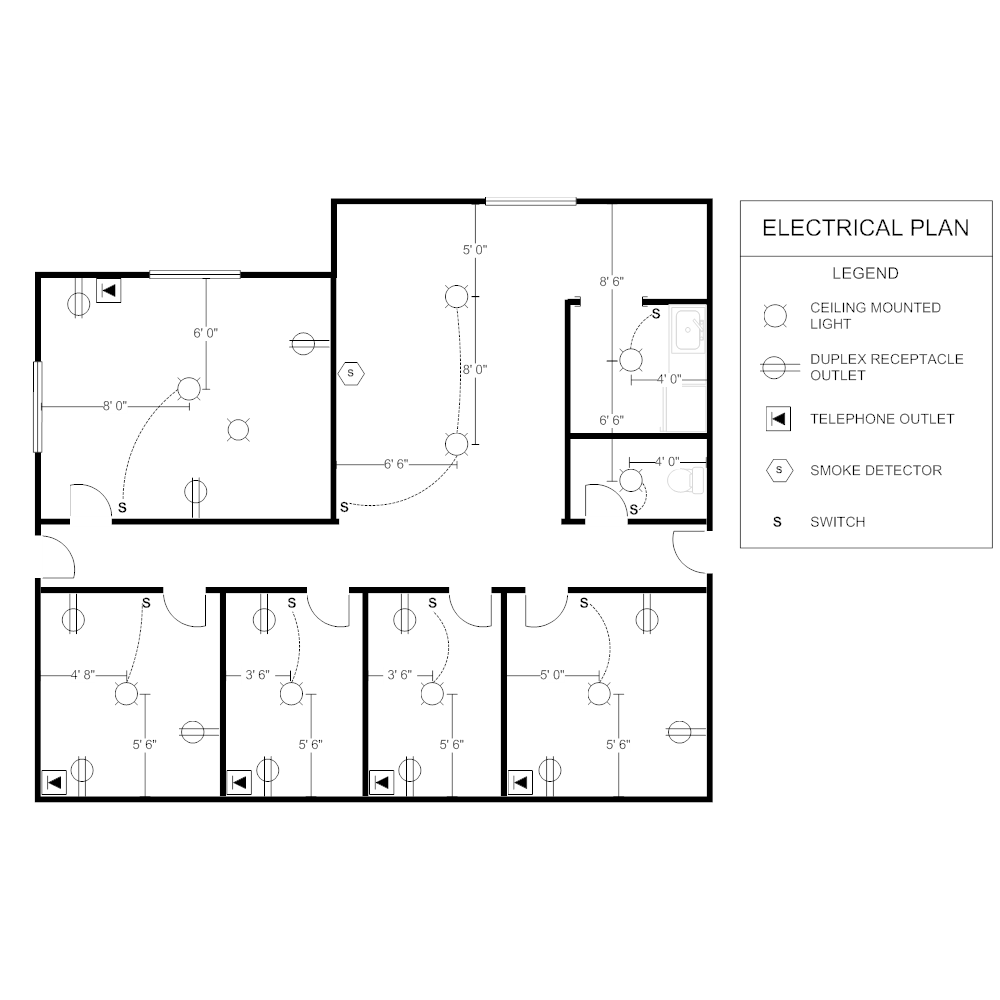Office Electrical Plan - House Plans   #143033