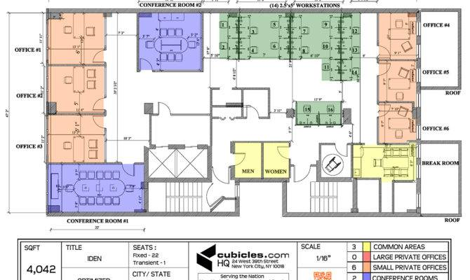 Office Layout Plan Furniture Floor Designed