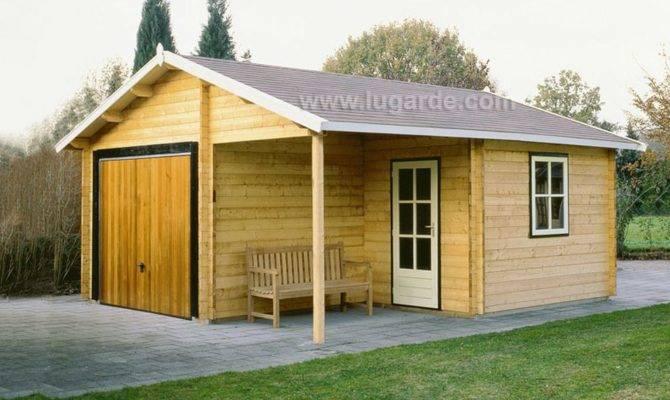 Oklahoma Garage Keops Interlock Log Cabins