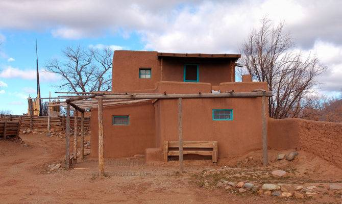 Old Adobe House Outside Pueblo Appears Have Been