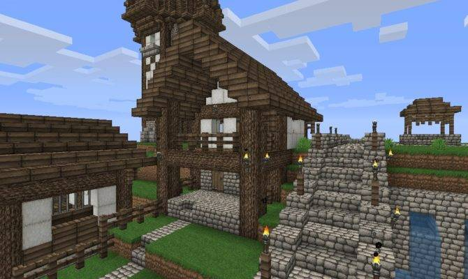 Old Fashioned Minecraft Houses House Plans 4477