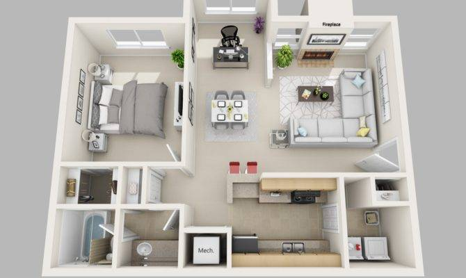One Bedroom Apartment Home Decor Takcop