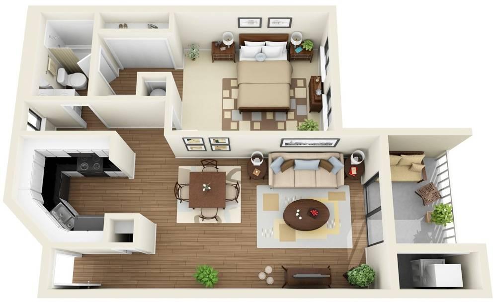 One Bedroom Apartment House Plans Architecture Design House Plans 81434