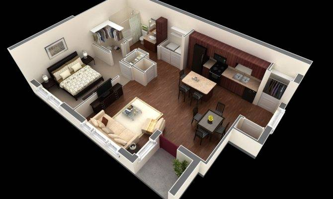 28 Pictures One Room Apartment Layout House Plans