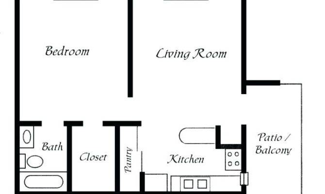 One Bedroom Bath House Plans Best Simple Floor