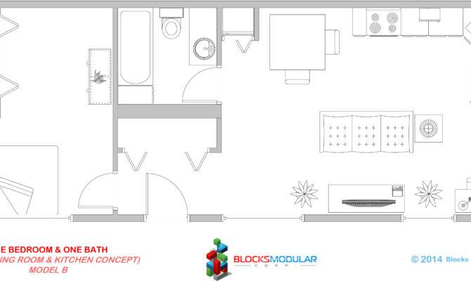 One Bedroom Bathroom Model Blocks Modular
