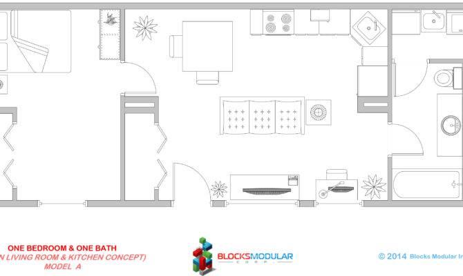 One Bedroom Bathroom Model