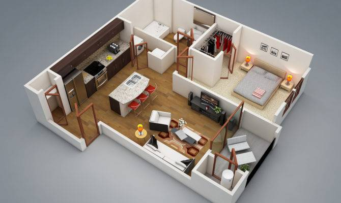 One Bedroom Design Ideas Awesome Inspiration Apartment