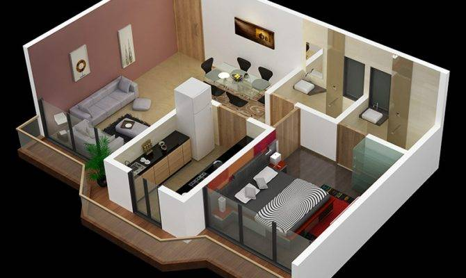 One Bedroom House Apartment Plans