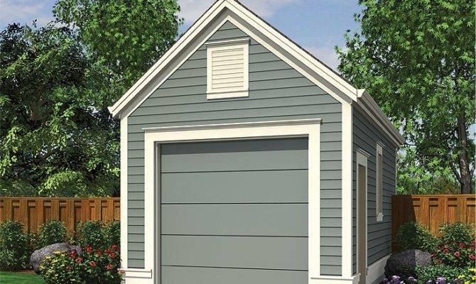 One Car Garage Plans Detached Plan