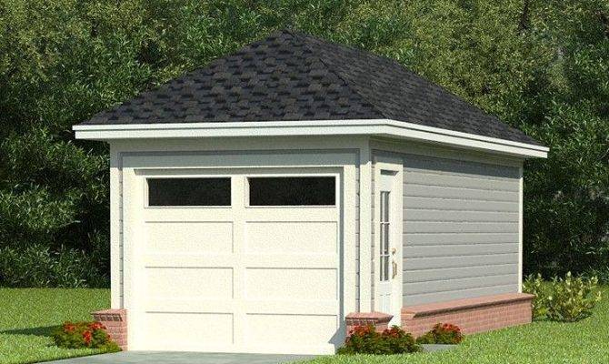 One Car Garage Plans Single Plan Hip
