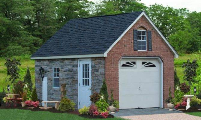 One Car Prefab Garages Choices Amish Built