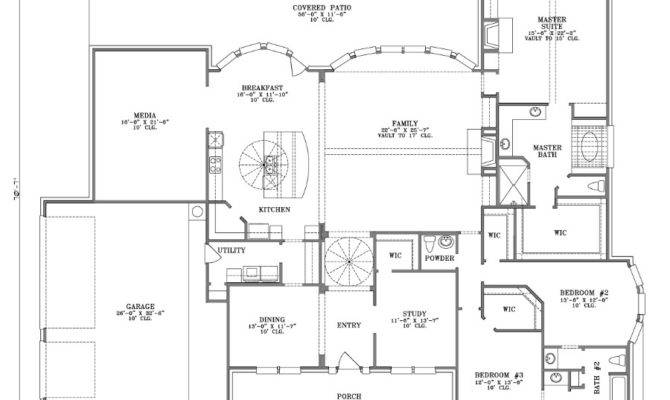One Floor House Plans Porches
