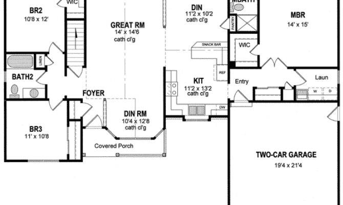 One Level Duplex House Plans Corner Lot