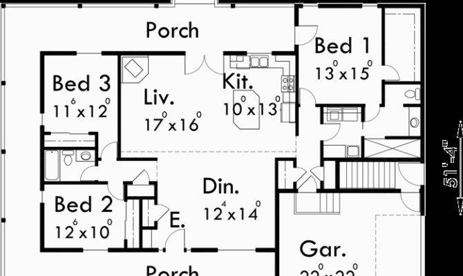 One Level House Plans Basements