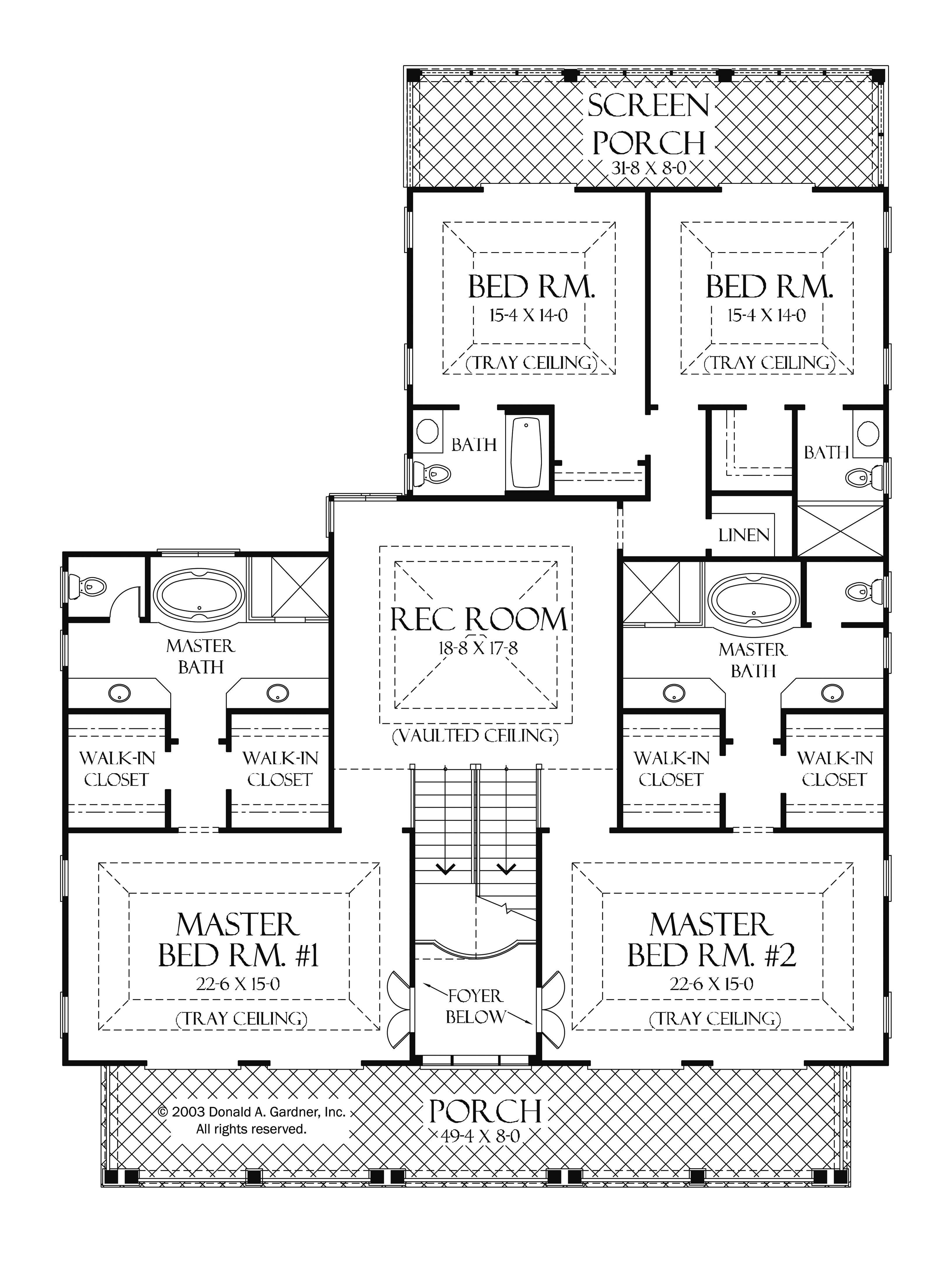 One Level House Plans Two Master Suites Arts Bedroom House Plans 139288