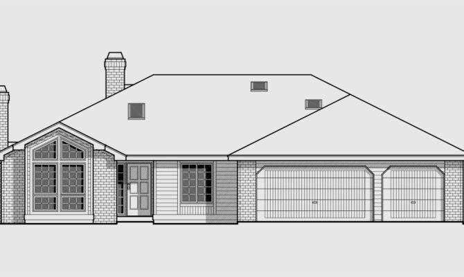 One Roof Line House Plans