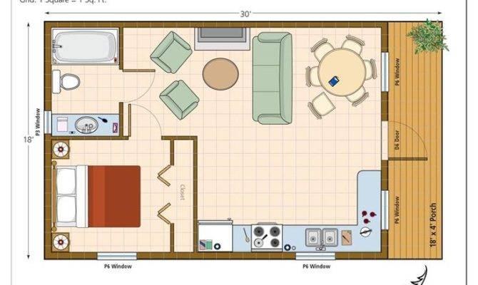 One Room Cabin Floor Plans Studio Plan Modern Casita