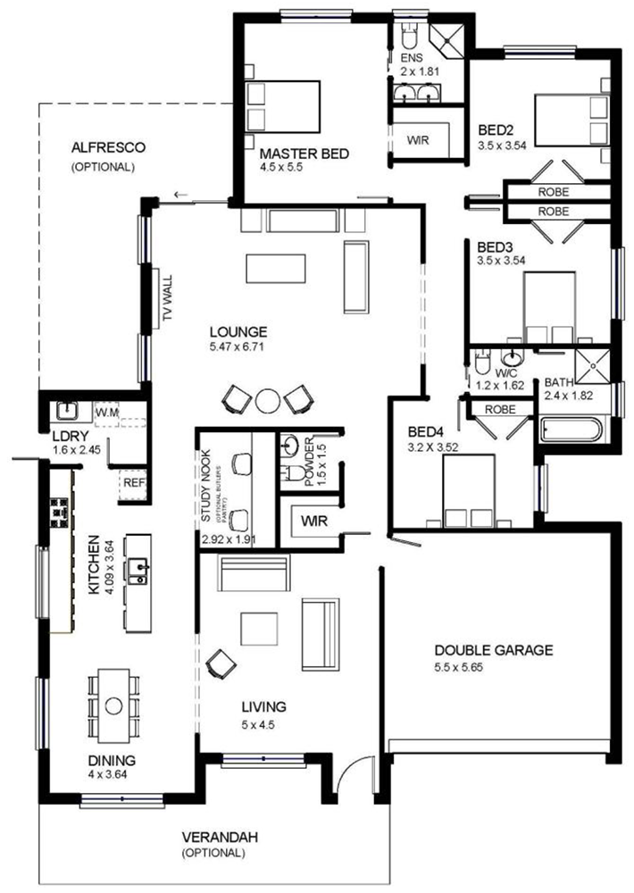 One Storey Modern House Plans Homes Floor - House Plans ...