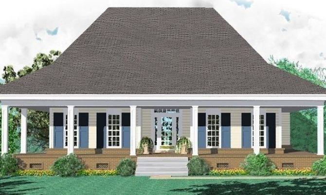 One Story Bedroom Bath Country Style House Plan Plans