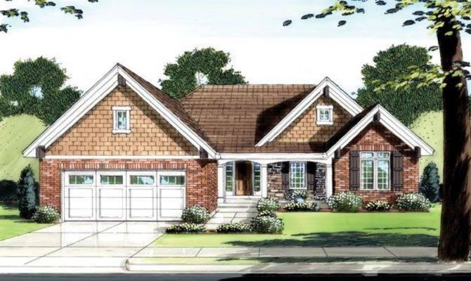 One Story Brick House Level Plans