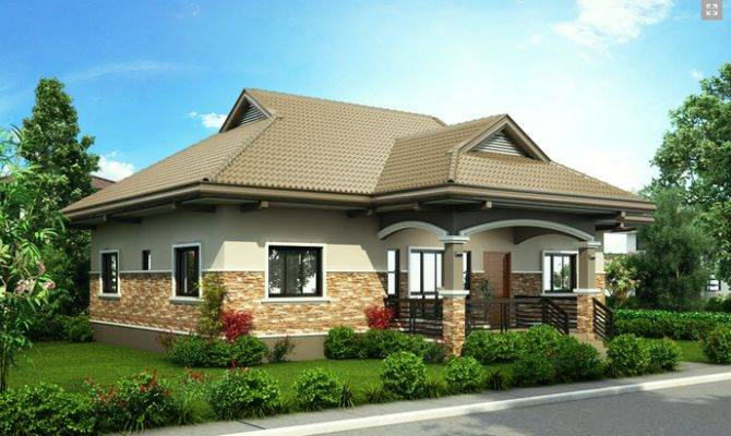 One Story Bungalow Design Home