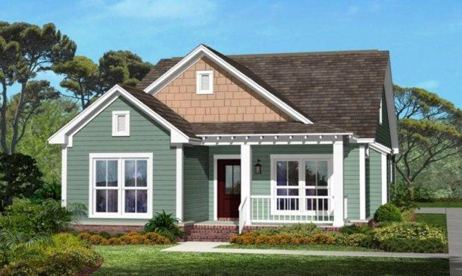 One Story Craftsman Style House Small