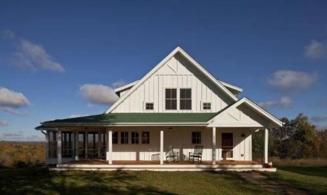 One Story Farmhouse Plans Wrap Around Porch House Style