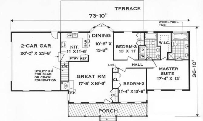 One Story House Plans Designers