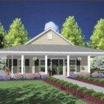 One Story House Wrap Around Porch Dream Home