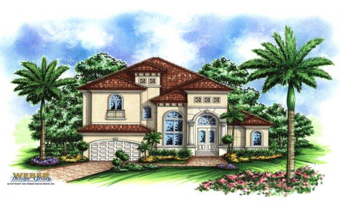 One Story Mediterranean House Plans Small