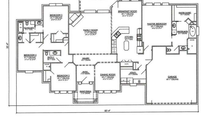 One Story Open Floor Plans Bedrooms Bedroom