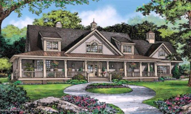 One Story Ranch Style House Plans Wrap Around Porch