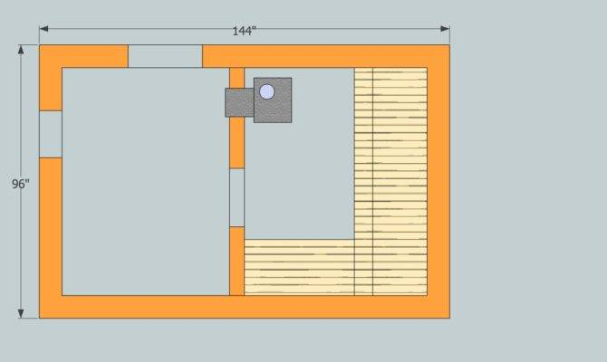 Ontario Sauna Floor Plan Stove Feed Room