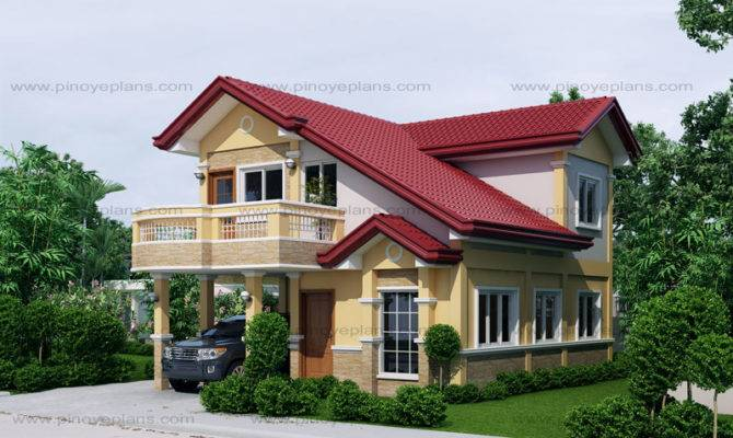 Open Below Two Storey House Pinoy Eplans Modern Designs