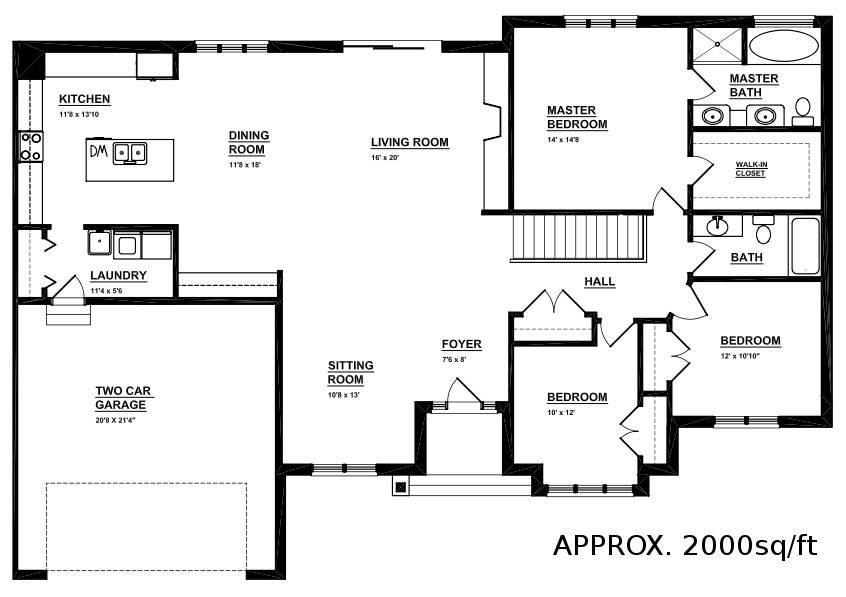Open Concept Bungalow Floor Plans Residence Fairways Pointe House Plans 80658