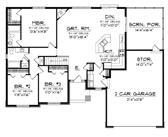 Open Concept Floor Plan House Plans 31542