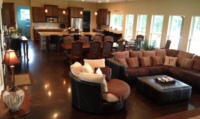 Open Concept Kitchen Living Dining Great Room