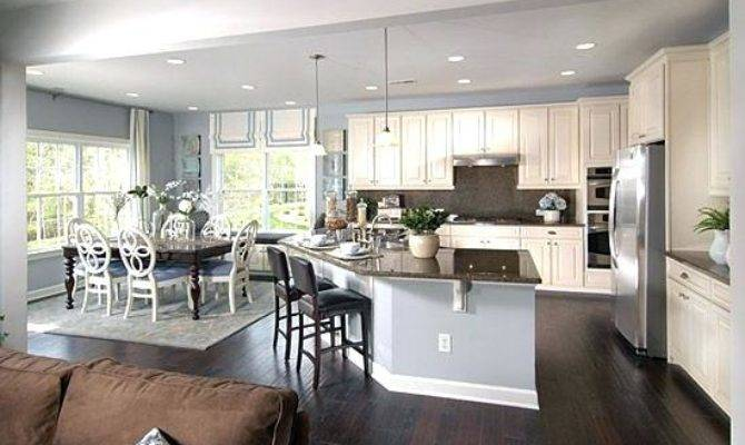 Open Concept Living Room Dining Kitchen