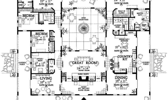 Open Courtyard House Plan Hunters