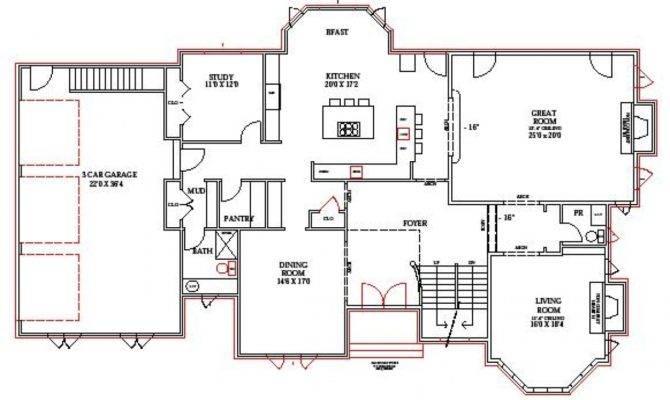 Open Floor House Plans Walkout Basement