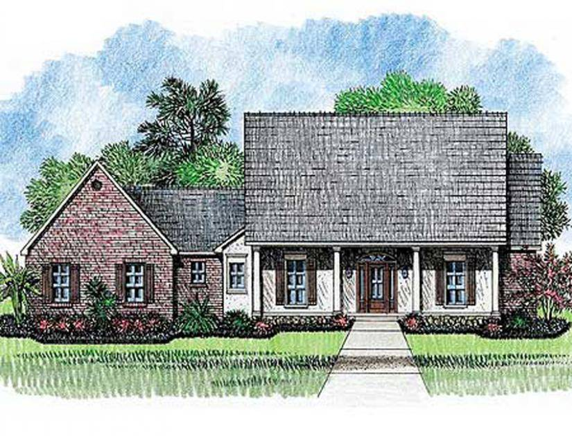 Open Floor Plan Acadian Style House Plans Home House Plans 44899