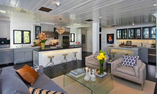 Open Floor Plan Design Contemporary Living Room Jeff